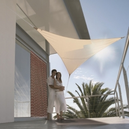 Voile d'ombrage triangulaire - 3.6 M - Sable - JARDILINE