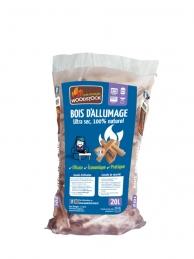 Bois d'allumage - 100 % Naturel - 20 L - WOODSTOCK
